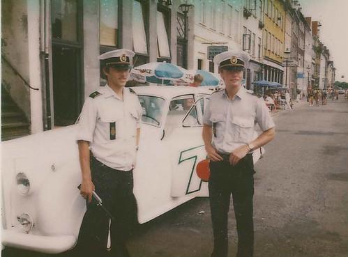 Et reklamestunt hvor fa. 7 Up bad politiets strøgpatrulje om et foto ved Rolls'en. Nyhavn 1982
