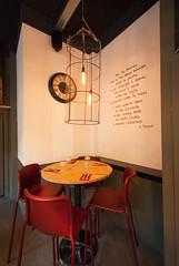 _DSC2102 (fdpdesign) Tags: pizzamaria pizzeria genova viacecchi foce italia italy design nikon d800 d200 furniture shopdesign industrial lampade arredo arredamento legno ferro abete tavoli sedie locali