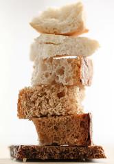 Bread (haberlea) Tags: home bread food hmm macromondays pumpernickel rye ryebread wheat wheatbread pita pieces macro