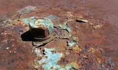 Rusty bolt (vriesia2) Tags: macromondays rust rusty iron rustyiron metal oxidation macro colour hmm bolt texture