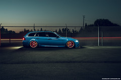Laguna Seca Blue BMW E91 (Richard.Le) Tags: bmw e91 wagon laguna seca blue m3 conversion richard le automotive photography commercial light painting sony a7rii lifestyle air ride airlift performance lsb te37 volk racing wheels red auto vault inc west sacramento california freeway flickr popular transportation transport car unique bimmer m power