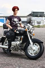 Romain (enigma02211) Tags: integritytoys fashionroyalty dollphotography fashiondoll fr it urban city motorcycle silentpartnerromainperrin