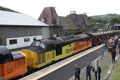37175+37254 Knighton, Shropshire (Paul Emma) Tags: uk railway railroad class37 railtour 565special excursion dieseltrain train 37175 37254 knighton shropshire