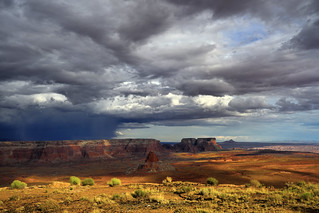 HDR of a rainstorm from Tower Butte, Page, Arizona 2017