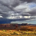 HDR of a rainstorm from Tower Butte, Page, Arizona 2017 thumbnail