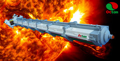 Octan Helium Barge No. 4 (David Roberts 01341) Tags: lego spaceship cargo tanker fuel helium gas octan energy space spacecraft minifigure minifig shiptember