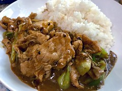 Pork stir-fried with black pepper (NuCastiel) Tags: yummy yum spotted iphone7plus iphone7 apple iphone camera healthy health cleanfood great awesome delicious pepper blackpepper cooked cook ate meal breakfast dinner lunch portion thaistyle dish thaidish asian rice fried stirfried pork thaifood cuisine eatery eat food bangkok bkk thailand thai