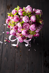 Big bouquet of roses (lyule4ik) Tags: bouquet flower box rose romantic gift background blossom fresh love pink plant red white beautiful beauty big blue bunch celebration day design floral glass green holiday many nature present romance rosa s valentine vase water wedding abackground acardboard acompliment agift apeony arose asurprise atulip aniris berries black bright buds