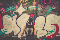 Hosier Lane (jc.street) Tags: 40mm leicam people art color colour contrast dreamy finder golden graf graffiti graffitiart hoiser iconic konica laneway leica life mrokkor m9 mask melbourne melbs minolta paint pastel photography photos range rangefinder rokkor script shadow shot smooth snap spray street streetphotography streetscene streetshooter streetshot streetview streets tagging tags toning tourists travel urbanpeople urbanstreet urbanview warm women