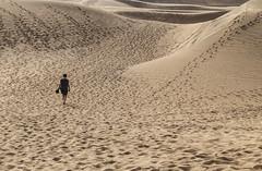 Pathfinder... (Robby van Moor) Tags: gran canaria las dunas de maspalomas beach dunes sun island dessert alone walk