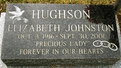 Gravestone - Elizabeth Johnston Hamilton
