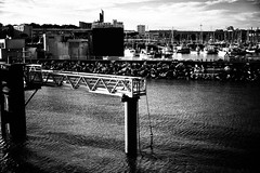 The Port at Royan (Missy Jussy) Tags: port docks boat royan southwestfrance france buildings coast seaside town tourism trip travel transport holiday ocean atlanticocean canon canon5dmarkll 50mm ef50mmf18ll canon50mm fantastic50mm mono monochrome blackwhite bw blackandwhite
