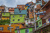 Facades of Color Medellin Columbia (Mike B's Photography) Tags: medellin columbia urban city travel favela architecture colorful
