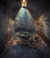Dentist's Chair (Thomas James Caldwell) Tags: eastern state penitentiary philadelphia pa pennsylvania museum decayed neglected light shadow dentist chair cell creepy spooky esp httpswwweasternstateorg prison jail