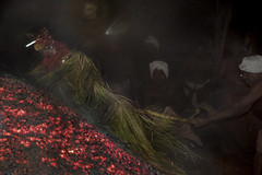 Ordeal By Fire - Man's Quest for God (Anoop Negi) Tags: theyyam kerala india low light fire coal wood dane ritual god glowing perseverence tough rites rituals anoop negi ezee123