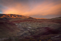 Sunset at The Painted Hills (Gary Randall) Tags: dsc09642 oregon thepaintedhills paintedhills sunset rainbow desert hills mountains landscapes