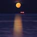 Fin d'éclipse de lune