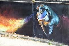 DSC_1387 London Bus Route #168 Camden Town Street Art Irony (photographer695) Tags: london bus route 168 camden town street art irony