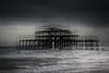 West Pier (hansekiki ) Tags: england brighton architektur architecture beach strand multipleexposure mehrfachbelichtung icm intentionalcameramovement canon 5dmarkiii