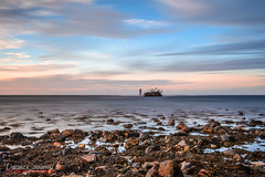 Wreck (DC-Studio) Tags: wreck inverallochy harbor scotland sea seascape sunset sky nisi fraserburgh landscape long exposure aberdeenshire nikon manfrotto nd1000 haida beach 1635 d610