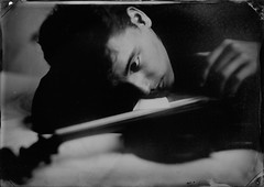 In sync (Eric Baggett) Tags: collodion wetplate wetplatephotography collodionwetplate tintype alumitype alternativeprocess analog extremeanalog myson violin dreamscape dreamy monochrome ericbaggett