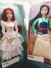 New Disney Store dolls! (Christo3furr) Tags: disney store princess fashion dolls little mermaid ariel mulan hanfu wedding barbie