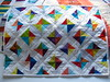 Liberated 'Xs and Os', Small Quilt by Janie 2017 (crazyvictoriana) Tags: liberated quilt modern white triangles xs os