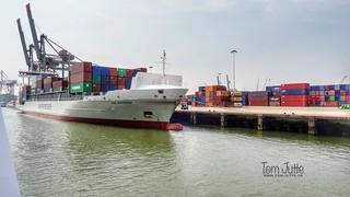Container Ship Ida Rambow, Waalhaven, Rotterdam - 5230