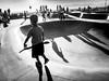 Little Warrior (tritranla) Tags: monochrome california olympus urban beach artistic sunset kid people losangeles streetphotography skateboard blackandwhite mirrorless candid city