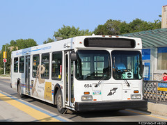 Winnipeg Transit #654 (vb5215's Transportation Gallery) Tags: winnipeg transit 1995 excalgary new flyer d40lf