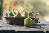 Pears (Inka56) Tags: 7dwf closeup hbw pears basket woodtable fruit bokeh stilllife