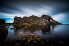 Nature Mimicking Nature (Augmented Reality Images (Getty Contributor)) Tags: portknockie bowfiddlerock bigstopper coastline landscape leefilters scotland water waves longexposure morayfirth canon seascape clouds rocks unitedkingdom gb