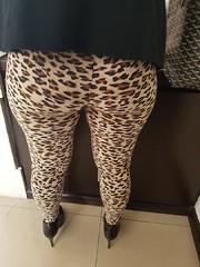 4 (alexazamolo) Tags: milf hotwife sexy legs miniskirt upskirt butt camel toe ass teasing flashing voyeur leggings yogapants animal print