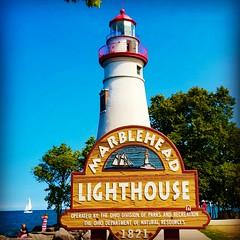 Marblehead Lighthouse on Lake Erie ll! (Edale614) Tags: marblehead lighthouse lakeerie lake lakeside sailboat sailing bluesky ohio