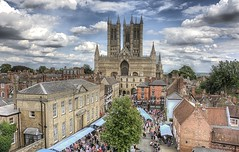 """Lincoln Cathedral From The Castle During Lincoln """"Asylum"""" Steampunk Festival - 2017.08.26 (D.R.Williams) Tags: lincoln lincolnshire steampunk asylum cathedral hdr sky"""