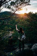 Watching the sunset (Kevin Kistermann) Tags: eifel eifelexplorers sunset sun sonne deutschland germany evening outdoor outside travel hiking wandern aussicht view what green orange explorer explore erkunde