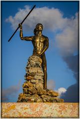 Cuba 2016 - Baracoa (Ulster79) Tags: bildhauerei farbe himmel kunst personen skulptur waffe art clouds color outdoor persons reflection sculpture sky sunlight weapon baracoa guantánamo cuba cu