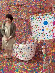 Yayoi Kusama (malstad) Tags: yayoikasuma nationalartcentre gallery museum installation art tokyo japan japanese lampshade chair participatoryart interactive minato