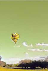 Hot Air Balloon (7525) _7637HSS (Barrie Wedel) Tags: hss hotairballoon clouds sundanceballoon prisma roy painterly sliderssunday overprocessed iphoneography iphoneprocessed instantart digitalart iphone5c regina saskatchewan canada yqr