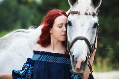 A Horse Lover (Elena Grigorieva) Tags: portrait magicmoments happymoments closeness happiness beauty joy purehappiness eternal love hugs together feeling emotional beautifuldayout thankful lovely beautiful girl redhair horsewhisperer horselovers whitehorse horse outdoor nikon photoshoot photographer photography grigorievaphotography