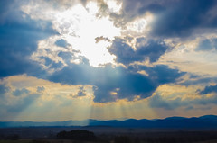 and the heavens opened (I was blind now I see!) Tags: clouds sun sunrays sunshine mountains landscape skyscape burst sunburst scenery scene awesome power nuclear spectacular