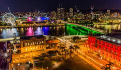 Brisbane city (andrew.walker28) Tags: brisbane city river night lights southbank wheel nightscape long exposure