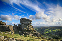 (OutdoorMonkey) Tags: honeybagtor dartmoor devon sunshine sunlight sunny bluesky cloud clouds evening countryside outside outdoor rural tor outcrop rock