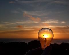 Sunset in a Lightbulb (dsgetch) Tags: sea searosebeach sunset sunsetinalightbulb beachsunset coastsunset oregoncoast centraloregoncoast lane county lanecounty cascadia pacificnorthwest pnw pnwlife yachats