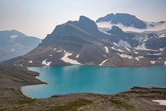 Smoky Sapphire {Explored} (Darren Umbsaar) Tags: mountain mountains canada banff alberta rockies canadian rock caldron lake glacier glacial valley summit peak ice water blue