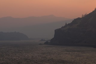 Smoky Sunset at Mosier Gap, Columbia Gorge