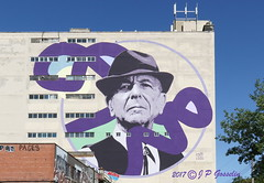 LEONARD COHEN  |  MURAL TRIBUTE  |  KEVIN LEDO  |  ST-LAURENT  BOULEVARD  |  COOPER BUILDING  |  LE PLATEAU  |  MONTREAL  |  QUEBEC  |  CANADA    | 2017 (J P Gosselin) Tags: leonard cohen | 2017 mural kevin ledo cooper building montreal quebec canada canon7dmarkii canon 7dmarkii 7d markii mark ii canoneosrebelt2i canoneos7d canon7d eos7d canoneos eos rebel t2i ph:camera=canon cbs records columbia plateau hallelujah poland canadian jewish congress jew urban art artist westmount westmont chelsea hotel suzanne marianne bird wire goodbye album partisan tribute stlaurent boulevard le qc