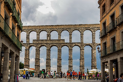 Aqueduct of Segovia / Spain (zilverbat.) Tags: spanje travel segovia bild tripadvisor visit zilverbat image unescoheritage spain unesco architecture buildings people timelife town tourist tourism tour terras map bookcover postcard worldheritage world arches europe europa eu ancient roman monument symbol city hotspot aquaduct corridor street