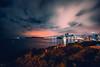 Busan Memories. (Todd Danger Farr) Tags: southkorea korea busan asia travel expat night lights movingclouds longexposure ocean sea city citylights trees dalmaji