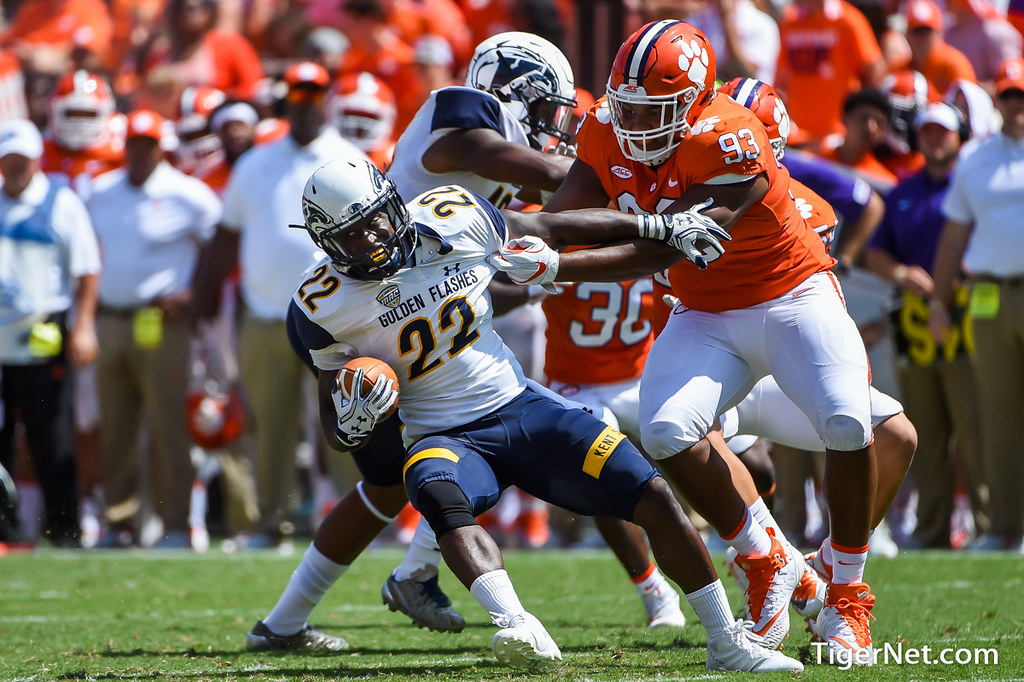 Clemson Photos: Sterling  Johnson, 2017, Football, kentstate
